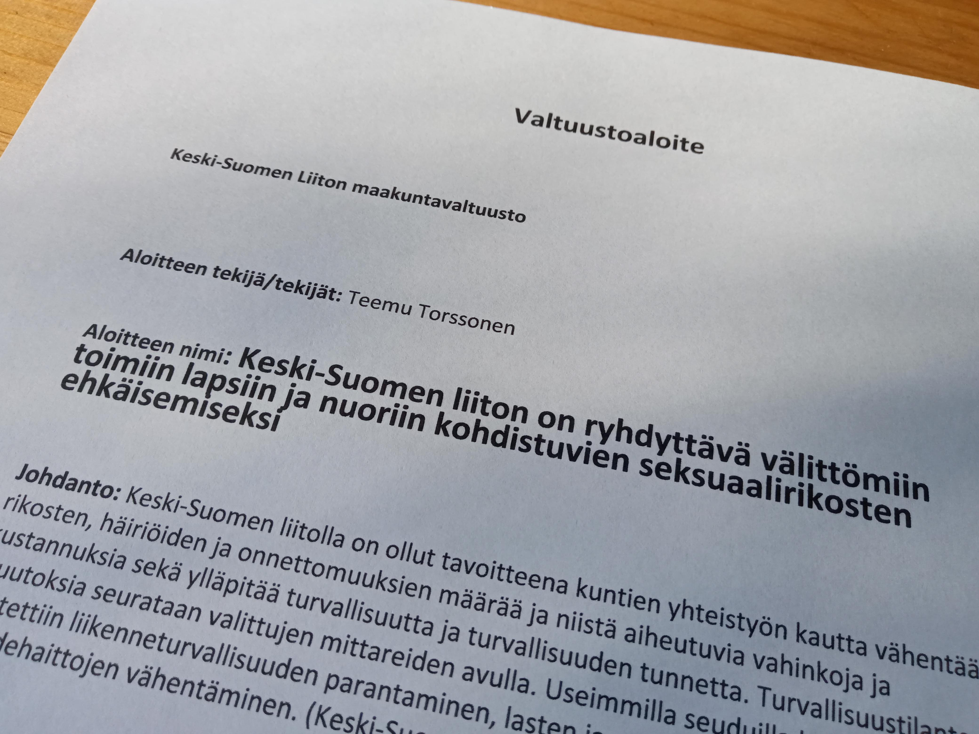 Valtuustoaloite_lapsiin_ja_nuoriin_kohdistuvat_seksuaalirikokset
